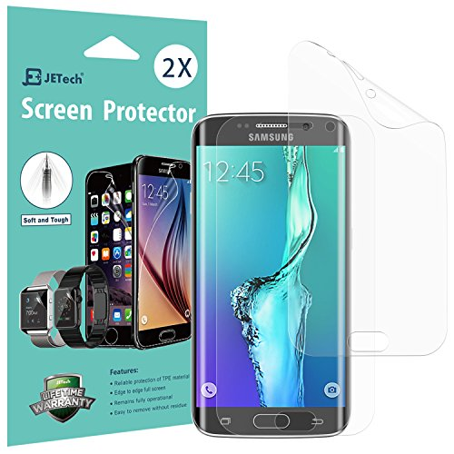 Galaxy S6 Edge Plus Screen Protector, [Full Coverage], JETech SOFTOUGH 2-Pack TPE Ultra HD Screen Protector Film for Samsung Galaxy S6 Edge Plus - 1002