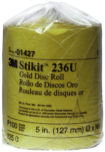 3M 01427 Stikit Gold 5'' P100A Grit Disc Roll (Pack of 10) by 3M (Image #1)