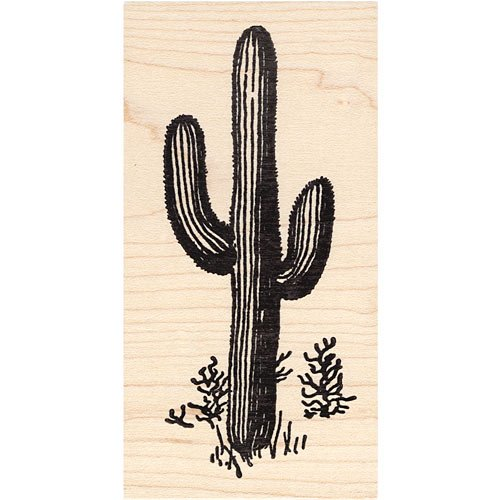 Saguaro Cactus Rubber Stamp Beeswax Rubber Stamps