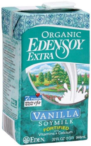 Eden Soymilk Extra Vanilla Organic, 32-ounces (Pack (Extra Vanilla Soy Milk)