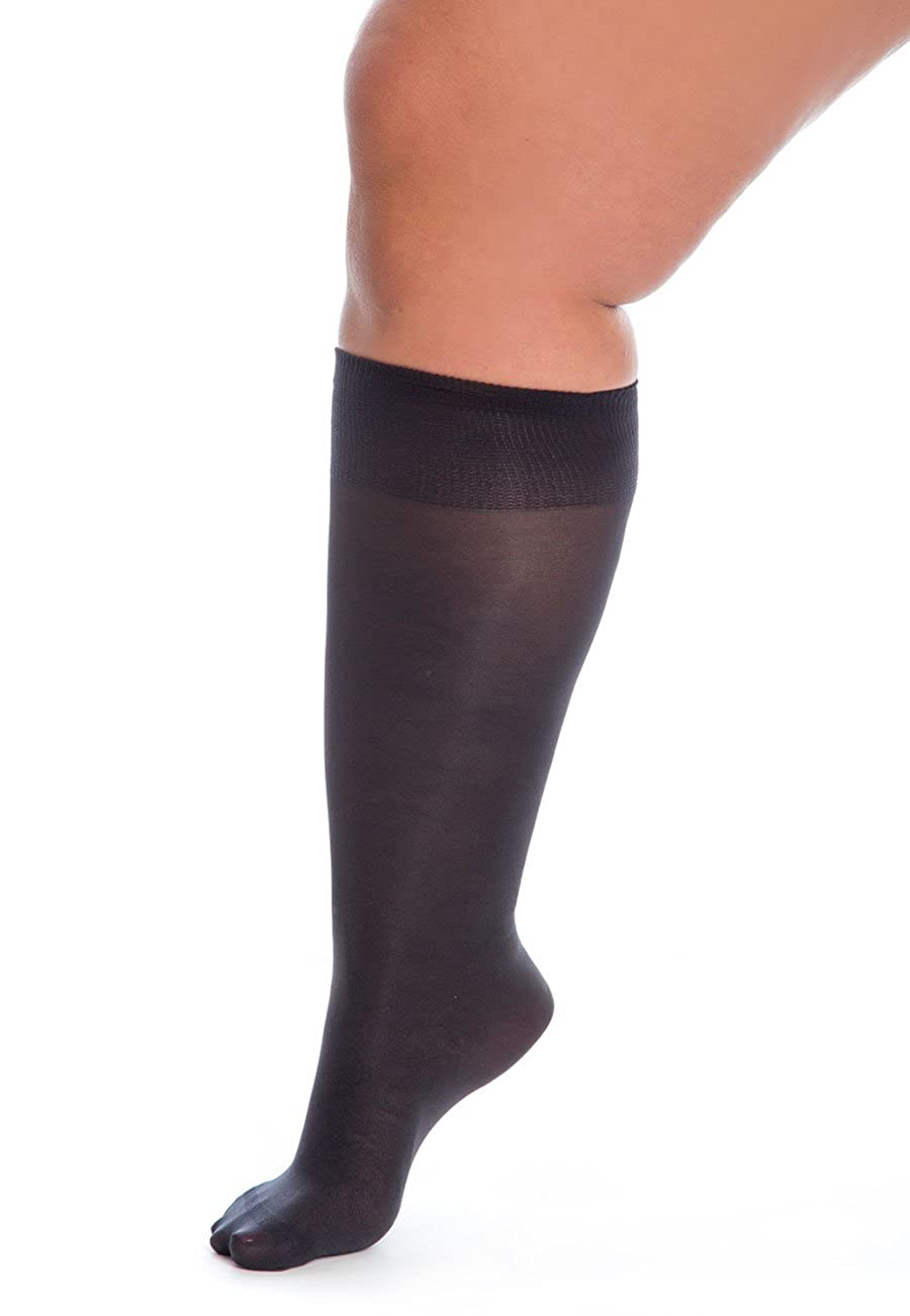 fa13891fa7524 All Woman Extra Wide Knee-highs/Pop Socks Alber's 40 Denier Microfibre PACK  OF 5 (UK4/9, Anthracite): Amazon.co.uk: Clothing