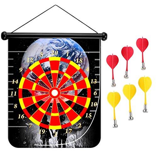 15インチMagnetic Dart Board Double Sided Hanging Dart Board Set and Bullseyeゲーム。Until the End of the World