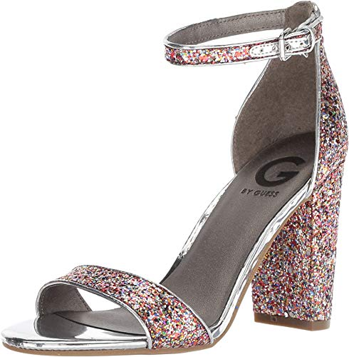 G by GUESS Women's Shantel 7 Rainbow/Argento/Fiesta Rock Candy 5.5 M US (Guess Strap Ankle Sandals)