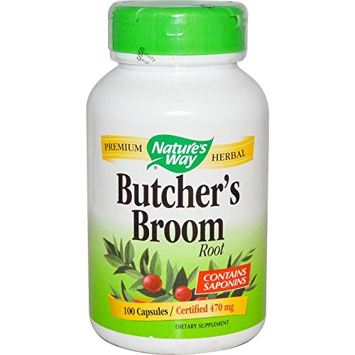 Nature's Way - Butcher's Broom Root 100 Caps [Pack of - Broom Butchers Natures Way