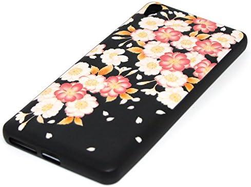 Funda Sony Xperia E5, Carcasa Sony Xperia E5, JAWSEU Sony Xperia E5 Tapa Trasera Nergo Silicona Floral Alivio Protectivo Parachoques Carcasa para Sony ...