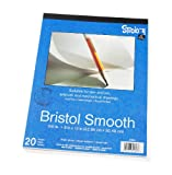 artistic drawing tablet - Darice 9-Inch-by-12-Inch Bristol Smooth Paper, 20-Sheets