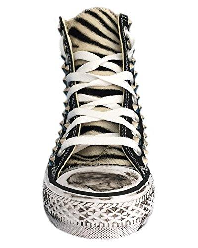 10667752cc Converse All Star con tessuto glitter argento, zebrato e borchie 166:  Amazon.it: Scarpe e borse