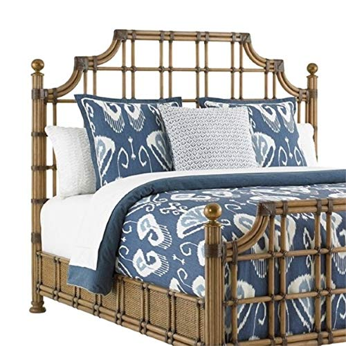 Tommy Bahama Twin Palms St. Kitts Queen Rattan Headboard in Brown (Furniture Tommy Rattan Bahama)