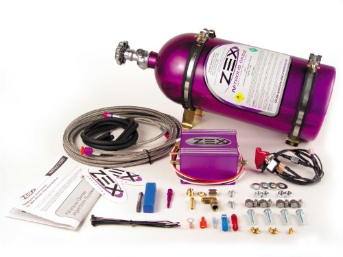 Zex 82014 EFI Dry Nitrous System Kit Purple Incl. Bottle/Bracket Everything Necessary For Easy Installation 55-75 HP EFI Dry Nitrous System Kit