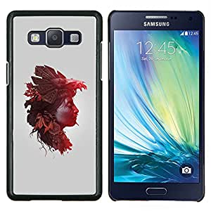 Planetar® ( Mujer de la naturaleza Hojas de otoño ) Samsung Galaxy A5 A5000 Fundas Cover Cubre Hard Case Cover
