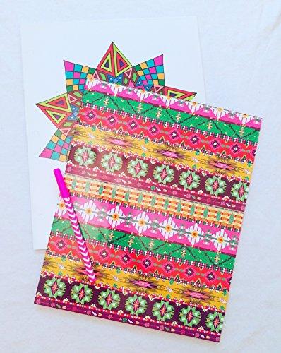 technicolor-tribal-two-pocket-portfolio-folder-set-with-pen