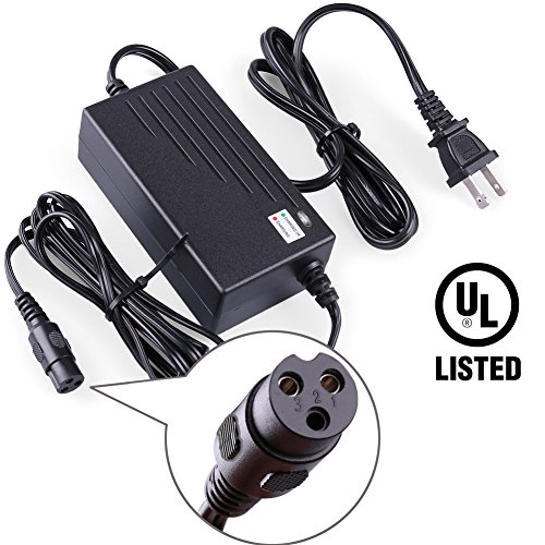 LotFancy 24V 2A Electric Scooter Battery Charger for Razor E100,E300,E125,E150,E200, PR200, E225S ,E325S, E175