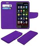 Acm Mobile Leather Flip Flap Wallet Case for Micromax Bolt Q335 Mobile Cover Purple