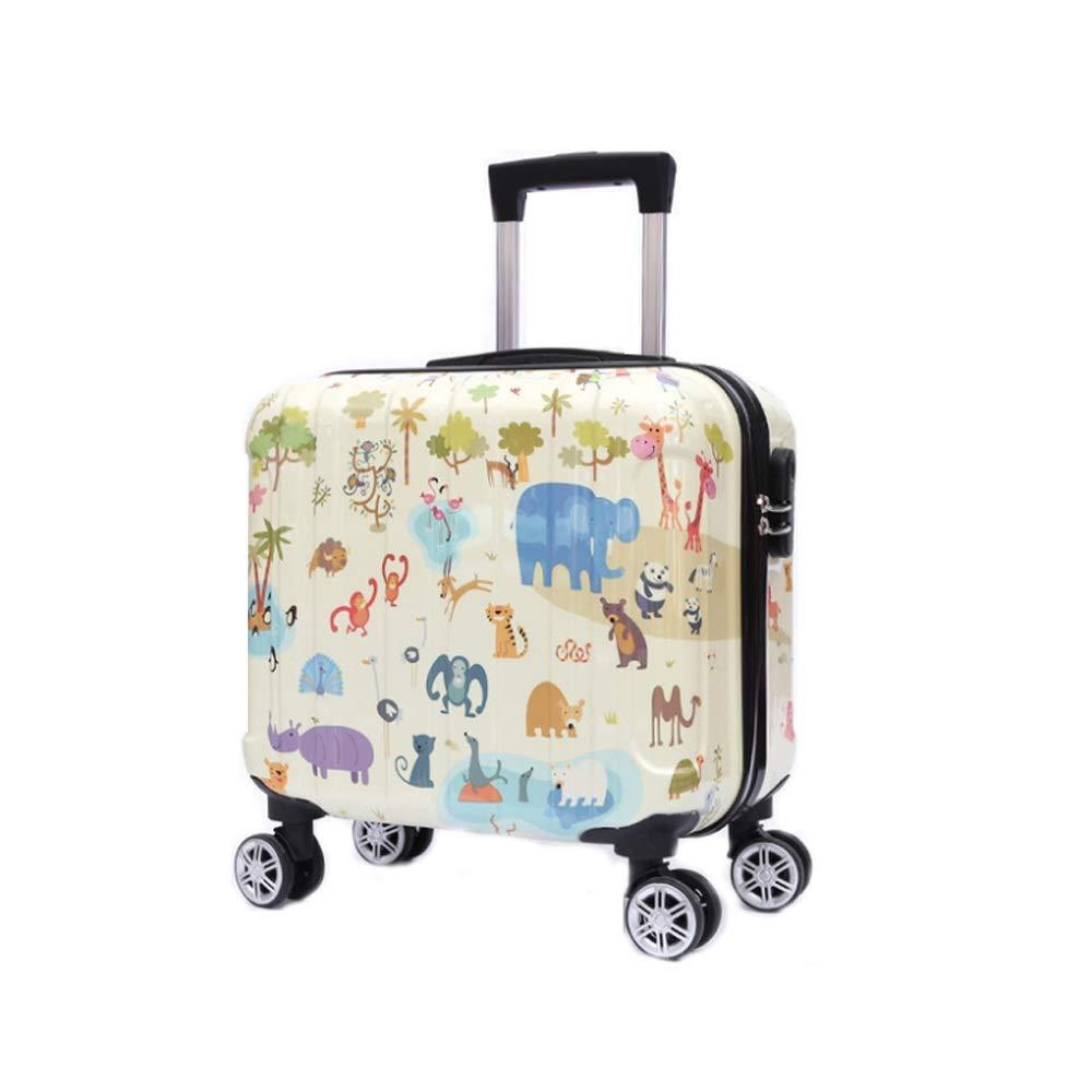 子供の旅行トロリーケース、漫画のパスワードユニバーサルホイール男性と女性の荷物収納ミニ搭乗ケースABS(16インチ) (色 : 2)  2 B07R2CRZ8B