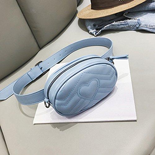 Per Borsa Tracolla Pelle Pink Donna Marsupio A 5 17 Blue Liu Messenger colore dimensioni 12cm In SwIyBqI5