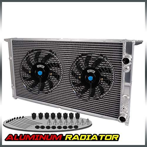 Aluminum Racing Radiator + 2 PCS 9