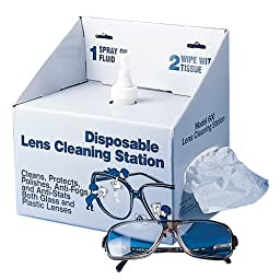 Bel-Art F24835-0000 Disposable Lens Cleaning Station; 8oz Non-Silicone Fluid, 600 Lens Tissues