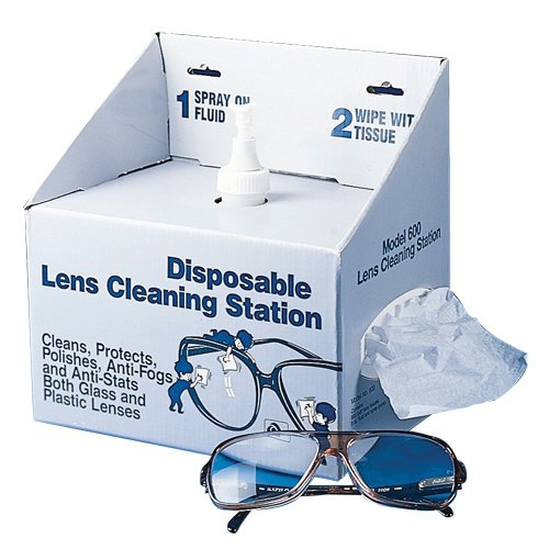 Bel-Art Disposable Lens Cleaning Station; 8oz Non-Silicone Fluid, 600 Lens Tissues (F24835-0000)