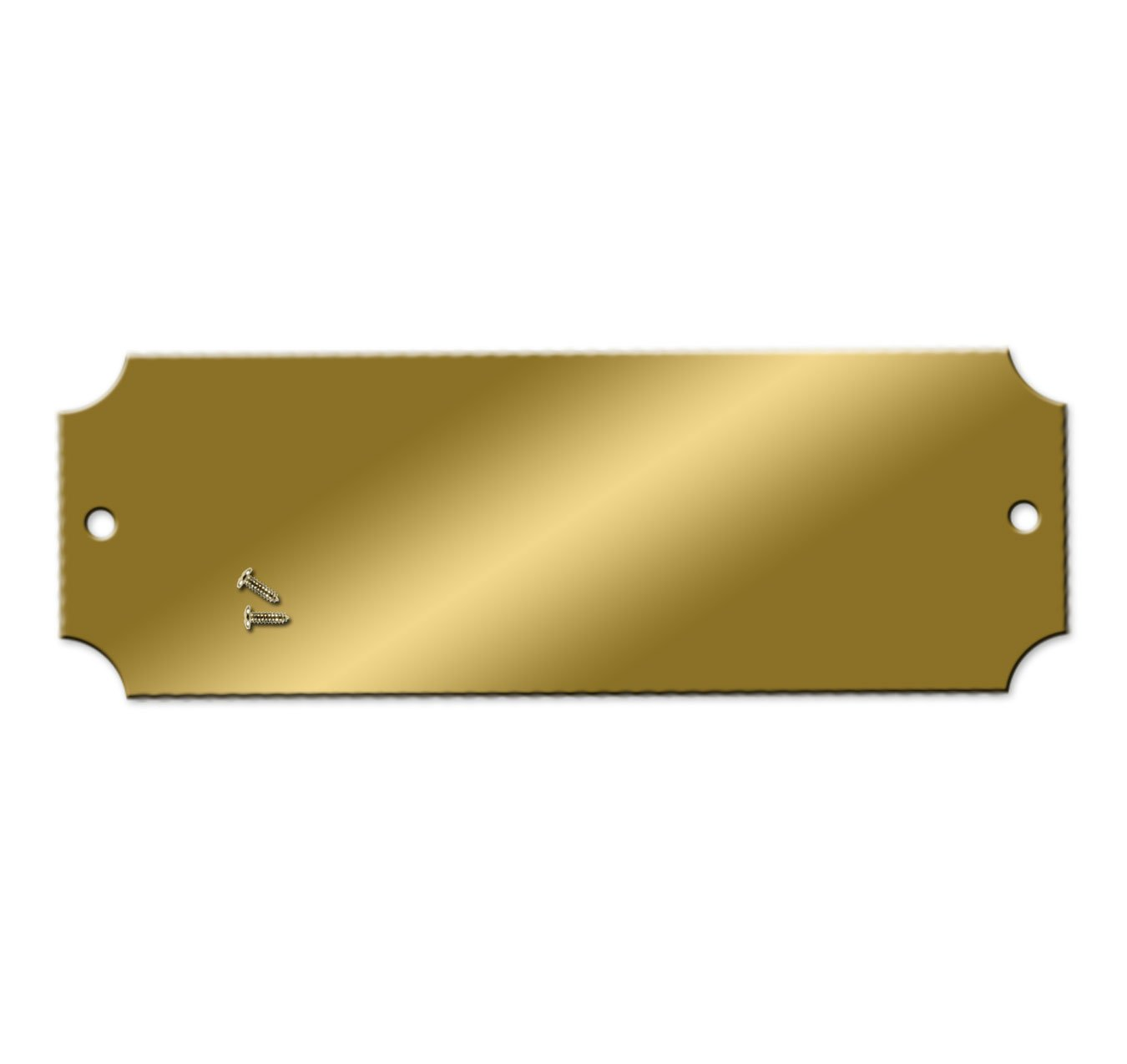 Blank Engraving Brass Plates - 2-1/2 x 7/8 inch - Pk/25