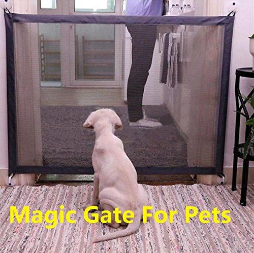 Dog Gate Magic Mesh Portable Pet Dog Fence Safety Guard Folding Magic Gate for Pets Safe Enclosure Fence (72x28 Inch) by YFDZONE (Image #7)