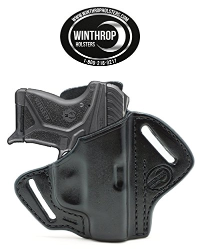 Winthrop Holsters OWB Pancake Black Leather Holster (Ruger LCP II #1180)