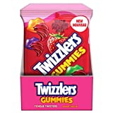 TWIZZLERS Gummy Candy Sweet Tongue Twisters, 182g (Bulk Box of 10)