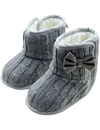 Gotd Baby Toddler Infant Girls Snow Boots Soft Sole Prewalker Crib Shoes