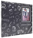MCS MBI 13.5x12.5 Inch School Days Chalkboard Scrapbook Album with 12x12 Inch Pages with Photo Opening (860089)