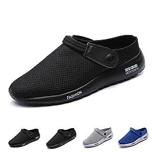 LINGTOM Men's Non Slip Clogs and Mules House Garden Shoes Slippers Sandals