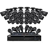 Lorex 32 Channel 4MP 4K Security System NR9326 6TB HDD 32 4MP LNB4421B Bullet Cameras with color night vision