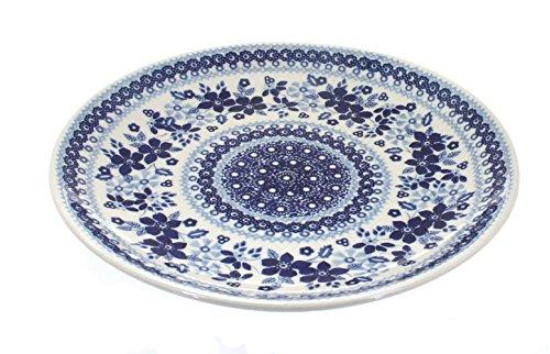 (Blue Rose Polish Pottery Vintage Blue Daisy Dinner)