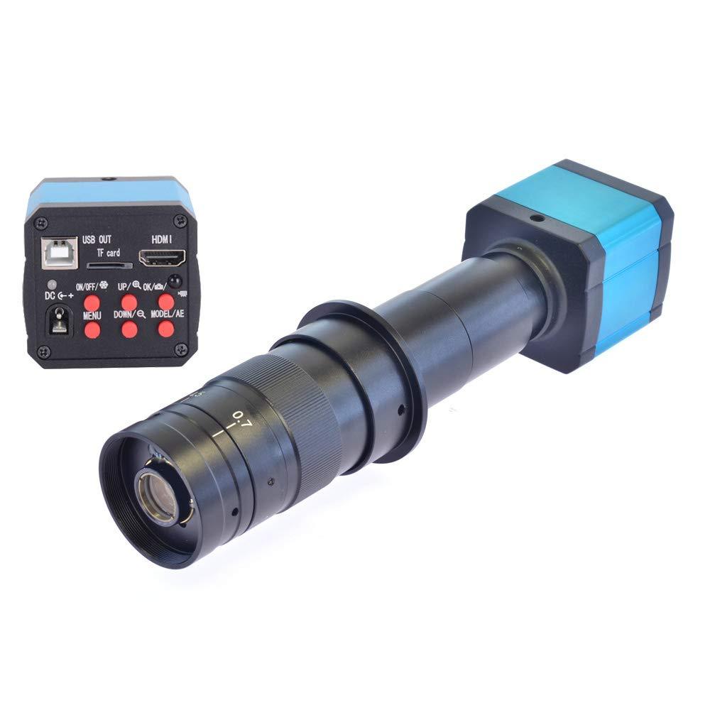 HAYEAR 14MP HD TV HDMI USB Industry Digital C-Mount Microscope Camera TF Card + 180x Zoom C-Mount Lens by HAYEAR