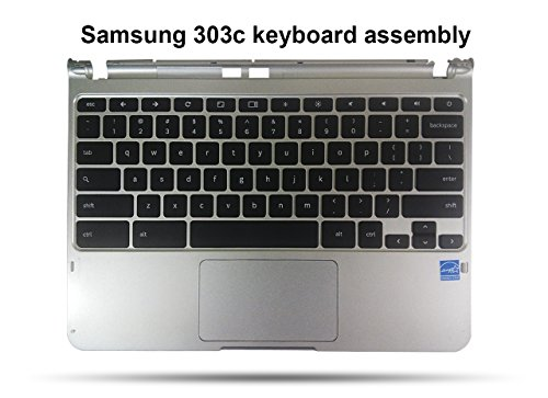 Samsung Chromebook 303c Replacement Keyboard, Palmrest, T...