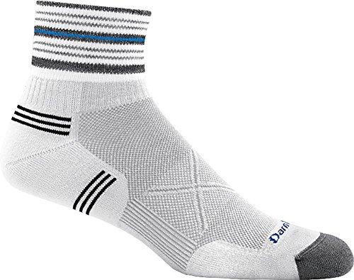 Darn Tough Vertex 1/4 Ultra-Light Cushion Sock - Men's White X-Large