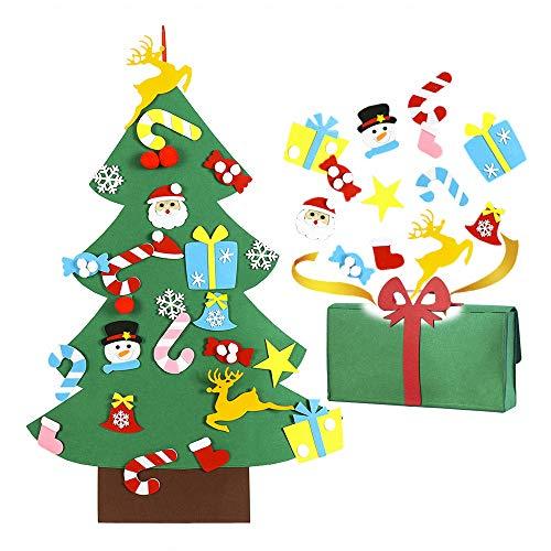 PinnacleT1 - Juego de árbol de Navidad de Fieltro con Adornos Desmontables, para Colgar en la Pared o en la Puerta (tamaño...