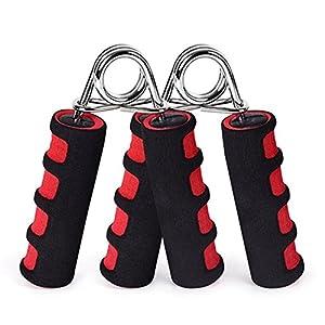 2 Pack Hand Grip Strengthener, Hand Soft Foam Manual Exerciser - Rapid Increase of Wrist, Forearm and Finger Strength Exercise Equipment