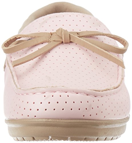 Crocs Womens Wrap Colorlite Geperforeerde Loafer Schoen Pearl Pink / Tumbleweed
