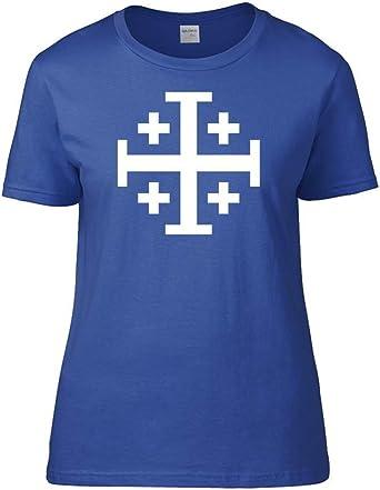 Ice-Tees - Camiseta para mujer con diseño de cruz de ...