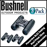 Cheap Bushnell Powerview 8X21 Folding Roof Prism Binoculars 3 Pack
