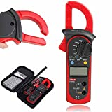 Signstek Uni-t UT202A Auto-Ranging AC/DC Voltmeter and AC 600 AMPS Meter Auto/Manual Range Digital Handheld Clamp Meter Multimeter AC DC Test Tool