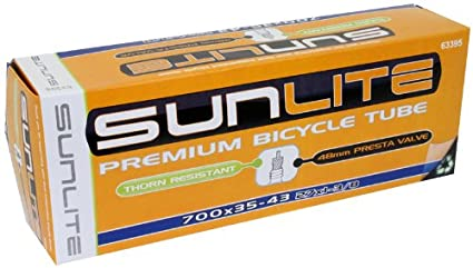 Sunlite Thorn Resistant Presta Valve Tubes, Multiple Sizes