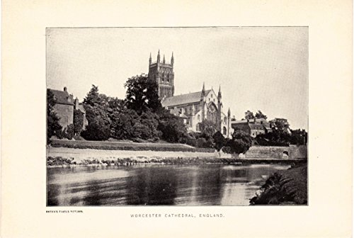 Worcester Cathedral, England circa 1910 (Brown's Famous Images)