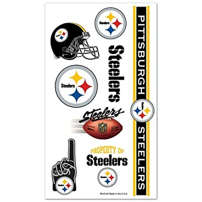 Pittsburgh Steelers NFL Temporary Tattoos (10 Tattoos) : Childrens Temporary Tattoos : Sports & Outdoors