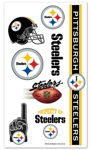 Pittsburgh Steelers NFL Temporary Tattoos (10 Tattoos) ()