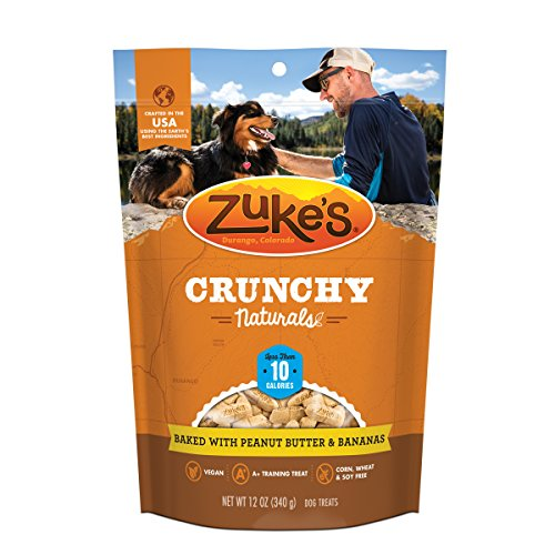Zuke'S Crunchy Naturals 10S Baked With Peanut Butter & Bananas Dog Treats - 12 Oz. Pouch