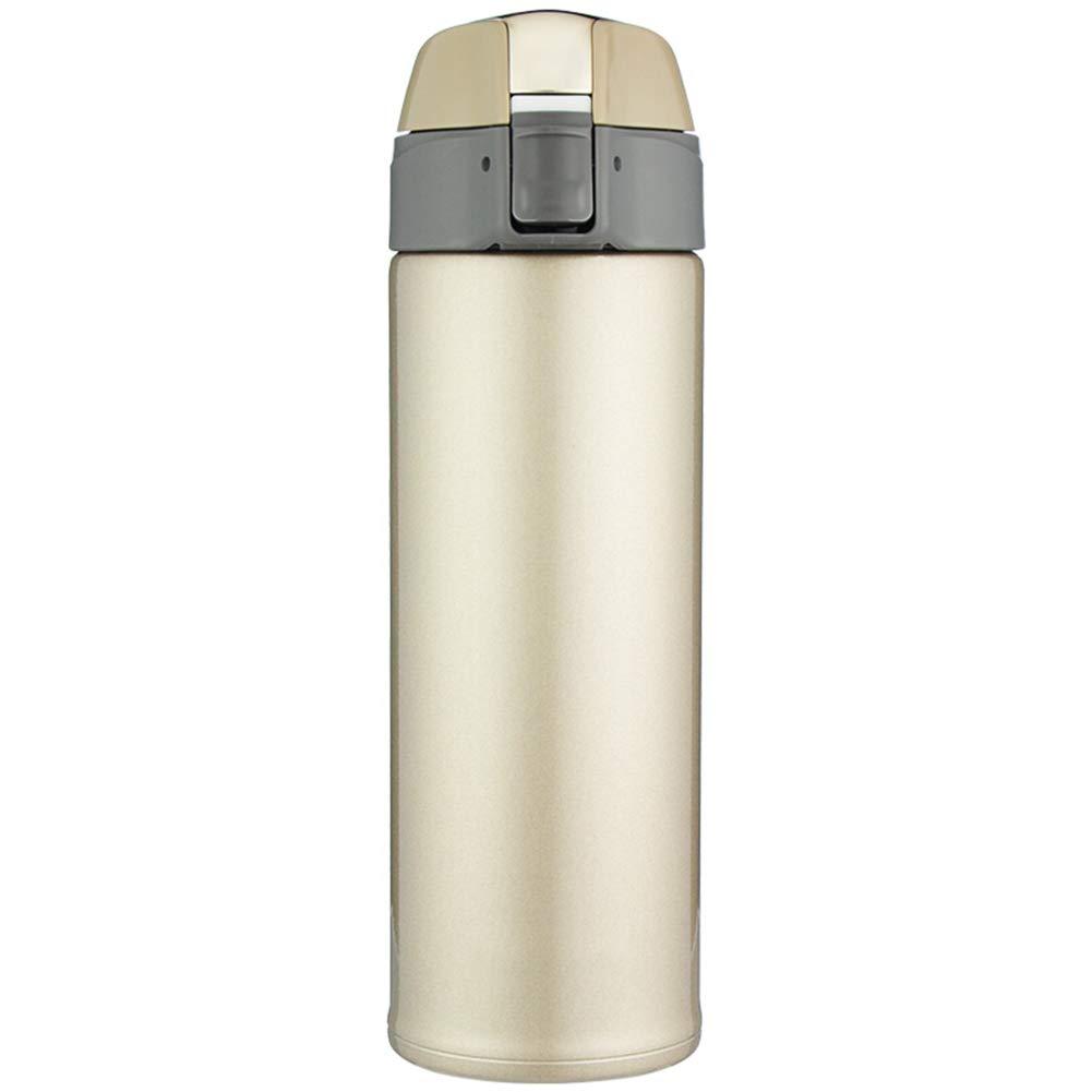 Sportflasche Isolier Becher Thermo Becher Travel Mug Kaffeebecher Wasserflasche Trinkbehälter Trinkflaschen-Einfache Art Und Weise Gerade Trinken Gerade Tasse JINRONG