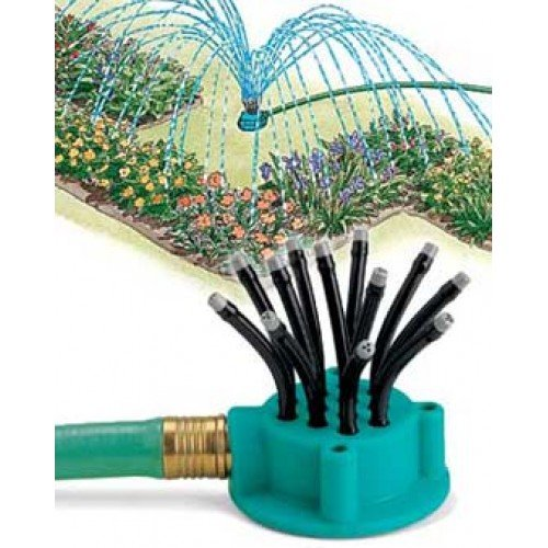 Garden Lawn Sprinkler & Stand - Noodlehead with Extend-A-Riser - Import It All