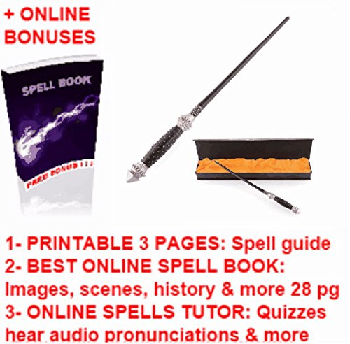 Narcissa Malfoy Wands Replica + Harry Potter Magic Wizards Printable Spell Book Cheap