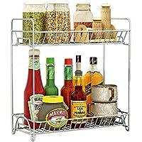 Fresh Household Stainless Steel Organizer Storage Kitchen Shelves Rack