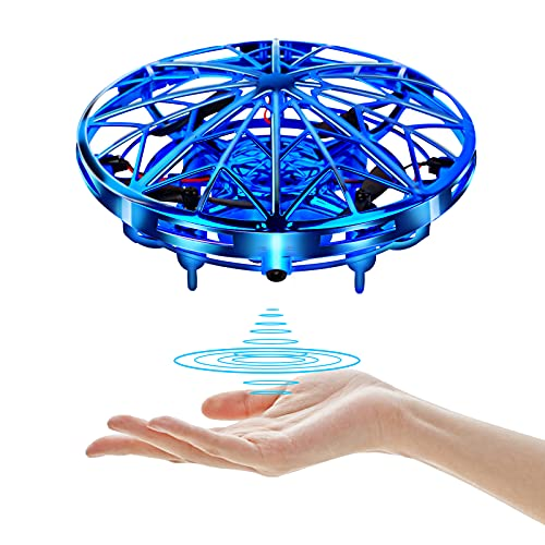 UTTORA UFO Mini Drone for Kids Adults, Flying Ball USB Charing Hands and Remote Control, Helicopter Quadcopter Infrared Toys Indoor Outdoor Gift for Boys Girls